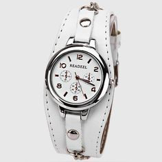 Cute Quartz Watch with Arabic Numbers Indicate Leather Watch Band for Women - White Cute and UNDER my price range. Cheap Accessories, Fashion Accessories, Trendy Handbags, Stylish Watches, Sunglasses Sale, Leather Watch Bands, Leather Jewelry, Wholesale Jewelry, Bracelet Watch