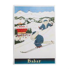 O personagem mais querido da literatura infantil francesa, o simpático elefantinho BABAR, vai deixar o quarto do seu filho mais alegre. Gravura linda para emoldurar e decorar o ambiente. Não inclui moldura.
