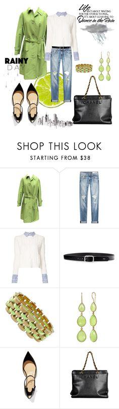 """Lime green"" by closet-freak ❤ liked on Polyvore featuring Prada, rag & bone, Veronica Beard, Lauren Ralph Lauren, Christian Louboutin, WALL, Chanel, lime and limegreencoat"