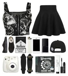 """Black & white"" by brokenpinkypromises ❤ liked on Polyvore featuring WearAll, Vans, NARS Cosmetics, Retrò and Bobbi Brown Cosmetics"
