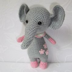 Today we're going to crochet a sweet baby elephant that can become an excellent gift for your beloved child. The Baby Elephant Amigurumi Pattern is FREE!