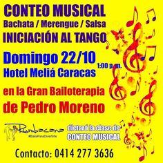 Hoy domingo 22/10 en el Meliá Caracas. Clase de conteo musical con nuestro amigo Pedro Moreno y su @bailoterapiaoficial  #Bailoterapia
