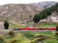 Wind Through Dramatic Landscapes in Ecuador's Andes Mountains on Tren Crucero