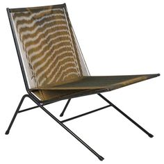 1950s Alan Gould String Chair   From a unique collection of antique and modern lounge chairs at https://www.1stdibs.com/furniture/seating/lounge-chairs/