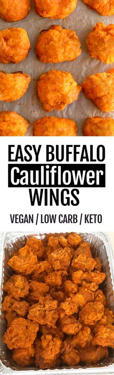 recipes easy The Best Crispy Baked Buffalo Cauliflower Wings that are so easy to make . The Best Crispy Baked Buffalo Cauliflower Wings that are so easy to make Easy Baking Recipes, Low Carb Recipes, Whole Food Recipes, Cooking Recipes, Healthy Recipes, Thai Recipes, Baked Buffalo Cauliflower, Cauliflower Bites, Cauliflower Recipes