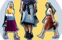 Saia: modelos para todos os gostos e tipo de corpo - saia evasê (Foto: Reprodução)