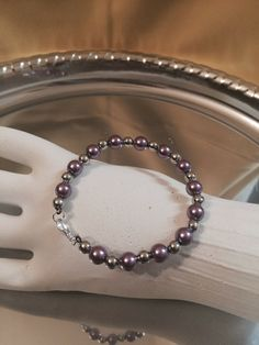 Beaded Bracelet via mademoiselle. Click on the image to see more!