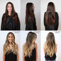 Balayage Dark Hair Before After Cabelo Ombre Hair, Balayage Hair, Haircolor, Brown Blonde Hair, Brunette Hair, From Brunette To Blonde, Blonde Ombre, Hair Day, New Hair