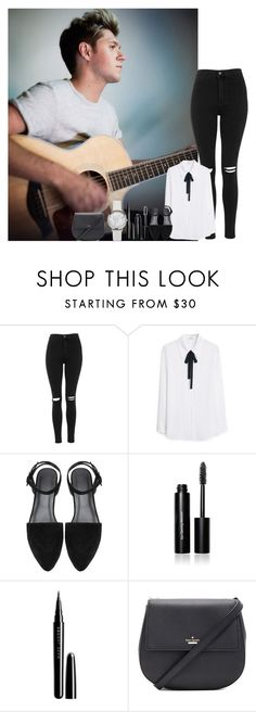 """Capitol Records photoshoot w/ Niall"" by walking-in-the-wind ❤ liked on Polyvore featuring Topshop, MANGO, Bobbi Brown Cosmetics, Marc Jacobs, Kate Spade and MaggiesTopSets"
