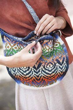Ravelry: Painted Lady Boho Bag pattern by Meghan Jones