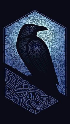 """Honestly, all crows are not ravens"" ― Munia Khan Norse Tattoo, Raven Tattoo, Viking Tattoos, Raven Logo, Crow Art, Raven Art, Fantasy Kunst, Fantasy Art, Vikings"