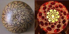 Resultado de imagen de lamparas de calabazas