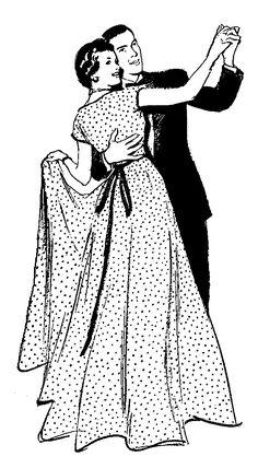 **FREE ViNTaGE DiGiTaL STaMPS**: Free Vintage Digital Stamp - Dancing Couple