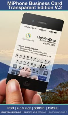 iPhone Business Card Transparent Edition V.2