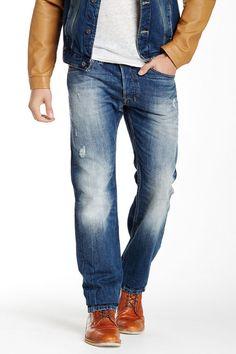 Diesel Safado Mens Regular Slim Straight Leg Jean Size 30 Distressed NWT $218 #DIESEL #ClassicStraightLeg