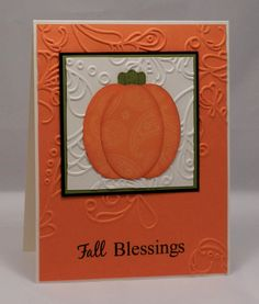 Thanksgiving Card: Technique Tuesday Fall Clear Stamp Set - SU Hardwood CM Stamp - SU Extra Large Oval & Modern Label Punches - SU Elegant Lines EF - Basic Black - Old Olive - Pumpkin Pie - Very Vanilla - Baked Brown Sugar - Pumpkin Pie Prints DSP 109170 - VersaFine Onyx Black Ink
