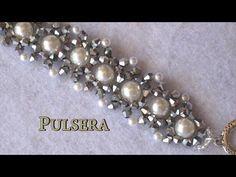 # DIY - Pulsera, gargantilla, ó collar fácil de perlas y tupis. DIY Easy bracelet - YouTube