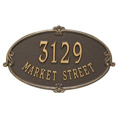 Monte Carlo Personalized Standard 2-Line Wall Address Plaque