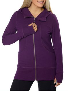 Ladies' French Terry Jacket - Purple