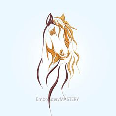 This design can be used for different purposes. Decorative pillows, kitchen towels, napkins, clothes and other items. See photos for sizes. Horse Spirit Animal, Spirit The Horse, Horse Stencil, Horse Tattoo Design, Horse Sketch, Horse Silhouette, Horse Face, Horse Drawings, Free Machine Embroidery Designs