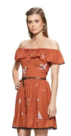 Só na Antix Store você encontra Vestido Cegonhas com exclusividade na internet