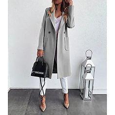 LightInTheBox - Παγκόσμιες Online Αγορές για Φορέματα, Σπίτι & Κήπος, Ηλεκτρονικά Προϊόντα, Ένδυση Γάμου Long Winter Coats, Long Wool Coat, Mode Outfits, Casual Outfits, Coats For Women, Clothes For Women, Mode Mantel, Langer Mantel, Coat Sale