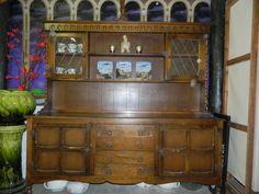 Old Charm Wood Bros Golden Oak Glazed Dresser Display Cabinet  www.facebook.com/station109 Kitchen Mood Board, Oval Coffee Tables, Wood, Furniture, Cabinet, Vintage Furniture, Coffee Table, Home Decor, Furniture Sale