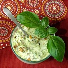 """Zucchini Salad with Yogurt and Walnuts 