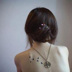 Espalda Pajaros Frases Arboles Tattoos Tattoo Designs Pictures