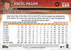 2015 Topps Mini - Red #688 Angel Pagan Back