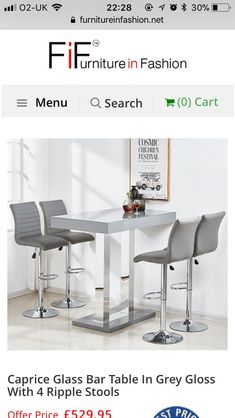 Glass Bar Table, Office Desk, Stool, Dining Table, Furniture, Home Decor, Desk Office, Decoration Home, Desk