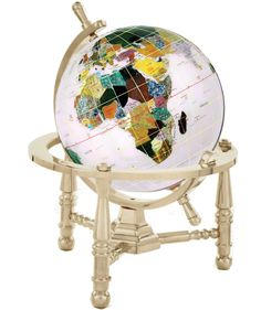 """Features: Product Type: -Tabletop & Desk Globes. Design: -Political. Style: -Contemporary. Globe Diameter: -Under 9"""". Mounting: -Inclination/Semi - Meridian. Gemstone: -Yes. Dimensions: Size 3"""""""