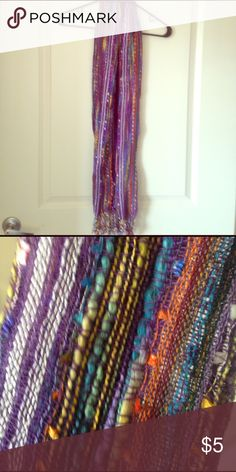 "Purple scarf Very pretty scarf by, ""All dazzled up, by RCS"" 40% viscose, 60% polyester Accessories Scarves & Wraps"