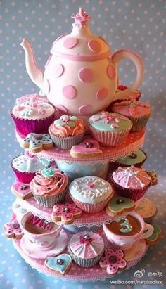precious wedding teacup cupcakes... Bridal Shower Tea Party?... I think so! =)