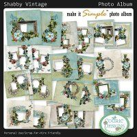 Shabby Vintage Photo Album - Another great Make It Simple ™  Photo Album by Couric Designs