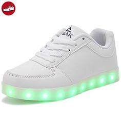 (Present:kleines Handtuch)Silber 45 EU LED Schuhe mode für 7 Aufladen Turnschuhe Leuchtend Unisex-Erwachsene JUNGLEST Herren Damen Farb BjPKWnLto