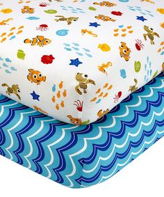 Another great find on #zulily! Nemo's Wavy Days Crib Sheet Set #zulilyfinds
