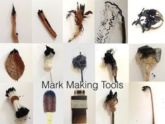 Mark making tools from nature & everyday objects~The Visionary ART Workshop handmade brushes Make Art, Diy Art, Drawing Machine, Making Tools, Visionary Art, Mark Making, Art Plastique, Art Tips, Painting Techniques