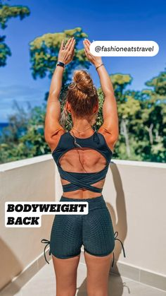 Fitness Workouts, Bodyweight Back Workout, Summer Body Workouts, Back Fat Workout, Fast Workouts, Slim Waist Workout, Gym Workout Videos, Gym Workout For Beginners, Fitness Workout For Women