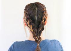 Double Dutch Braid | 3 Hairstyles for Dirty Hair