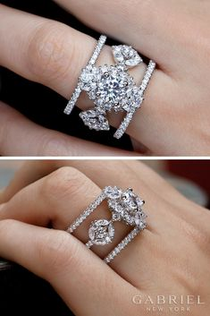 Explore engagement rings, wedding rings and anniversary bands from Gabriel & Co., a luxury bridal and fashion jewelry brand handcrafting unique designs with quality metals and ethically-sourced diamonds. Engagement Ring Types, Diamond Cluster Engagement Ring, Wedding Ring Styles, Wedding Ring Bands, Wedding Ideas, Gold Rings Jewelry, Fine Jewelry, Jewlery, African Jewelry