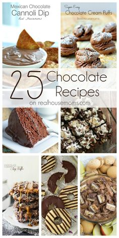 25 Chocolate Desserts on Real Housemoms