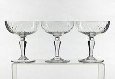 Lot de coupes à champagne en cristal de Baccarat
