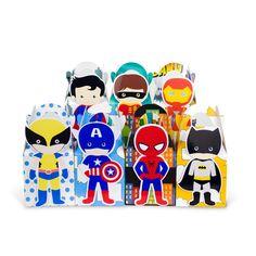 Pas cher Superhero Avengers cadeau boîte Batman bonbons boîte cadeau boîte de faveur de la boîte 7 pcs/lote décorations de fête d'anniversaire enfants événements et de fêtes, Acheter  Accessoires pour fêtes et réceptions de qualité directement des fournisseurs de Chine:            2015 nouveau                    Super-héros                    Avengers       Thème d'anniversaire parti