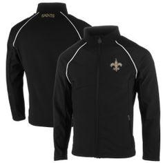 Mens New Orleans Saints Pro Line Black Soft Shell Big & Tall Jacket