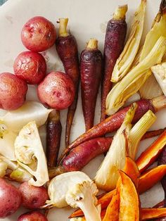 This picture-perfect vegetable bounty shows off the beauty of nature. Pair the Roasted Vegetables with a homemade aioli for a tangy dip.