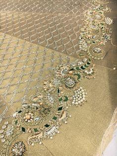 Whatsapp me 00923064010486 Zardozi Embroidery, Tambour Embroidery, Hand Work Embroidery, Indian Embroidery, Gold Embroidery, Embroidery Fashion, Hand Embroidery Designs, Embroidery Dress, Embroidery Stitches