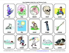 S-Blends (/sk/, /sw/): Free Speech Therapy Articulation Picture Cards -  Pinned by @PediaStaff – Please Visit http://ht.ly/63sNt for all our pediatric therapy pins