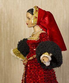 "Handmade Doll Jewelry Earrings fits  11/"" Dolls 919A"