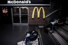 """A McDonald's in Hong Kong. """"McDonald's welcomes everyone to visit our restaurants any time,"""" said a spokeswoman for McDonald's in China, though how welcoming is up to each franchise owner. Credit Lam Yik Fei for The New York Times"""